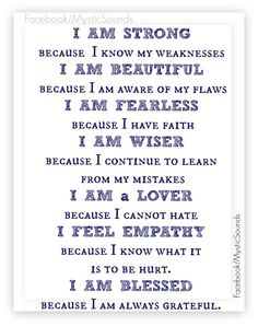 I AM ... / inspirational quotes for strength / build your confidence / believe in yourself