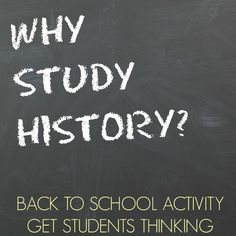 What if the students told you why history is of value?  Start your history class off with this back to school activity in which students persuade you (and others) why we study history in this collaborative project.  Great way to kick off the year, and you will have cool posters to share on back to school night!