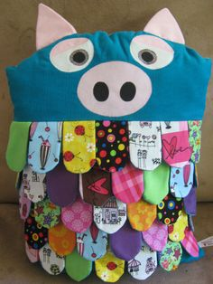 Pig Flapjack Pillow  Custom/Made to Order by paddywhackstudio, $39.00