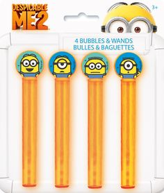 Despicable Me 2 - Bubble Tubes & Wands - Includes: (4) bubble tubes & wands to match your  party theme.