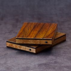 Wood Business Card Holder and Credit Card Case  by AcousticDesign