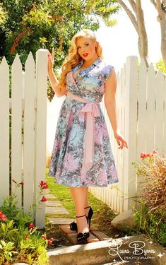 Pinup Girl plus size side tie dress 2010