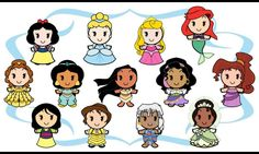 Princesas caricaturas Disney