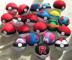 Custom Pokeball Pokemon Plush by hollystarlight on Etsy, $5.99