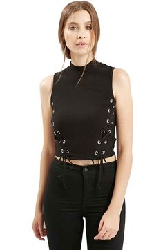 d6cffa4b84ab3 Topshop Funnel Neck Crop Top available at  Nordstrom Funnel Neck