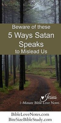 5 Ways Satan Lies to Us. We are called to be alert to the devil's schemes and this short devotion and Bible study equip us to recognize 5 ways that Satan seeks to mislead us. Bible Prayers, Bible Scriptures, Bible Quotes, Bible Teachings, Bible Psalms, Christ Quotes, Catholic Quotes, Adonai Elohim, Short Devotions