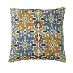 Blue Mosaic Embroidered Pillow Covers | The Company Store