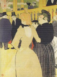 En Moulin Rouge: La Goulue y su hermana, 1892. Litografía en color, 46 x 35 cm. Colección privada