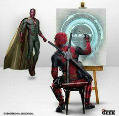 Vision aka JARVIS °° Marvel Funny, Marvel Memes, Marvel Dc Comics, Anime Comics, Comic Movies, Comic Book Characters, Deadpool Art, Marvel Facts, Geek Humor