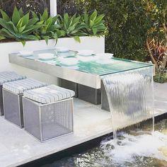 "195 Likes, 3 Comments - Master Landscapers Association (@lna_landscapers_association) on Instagram: ""The Water Table | via @modular_walls #lna#lnamember#landscape#landscape-contractor#design…"""