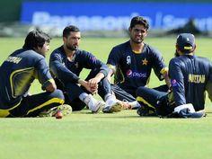 Pakistan cricket team player sitting