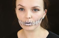 Skeleton mouth make-up tutorial - goodtoknow