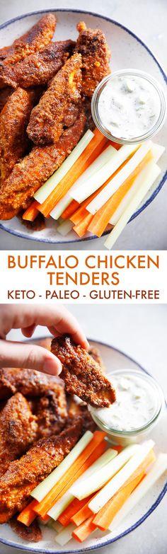 Buffalo Chicken Tenders (Keto & Gluten-Free) - Lexi's Clean Kitchen
