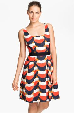 Milly 'Isabelle' Cotton Fit & Flare Dress | Nordstrom