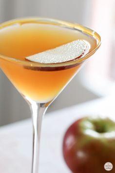 Caramel Apple Martini - my new favorite cocktail!!