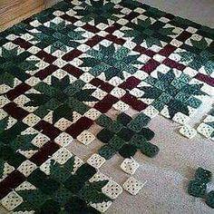 Granny Square Crochet Afghan blanket, handmade blanket with rose desing for double bed, King size bed throw blanket Crochet Quilt Pattern, Crochet Bedspread, Granny Square Crochet Pattern, Crochet Squares, Crochet Granny, Crochet Blanket Patterns, Crochet Motif, Crochet Afghans, Quilt Patterns