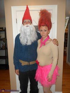 Treasure Troll and Garden Gnome Costume Troll, Garden Gnome Halloween Costume, Gnome Costume, Homemade Halloween Costumes, Costume Works, Halloween Costume Contest, Creative Halloween Costumes, Clever Costumes, Unique Costumes