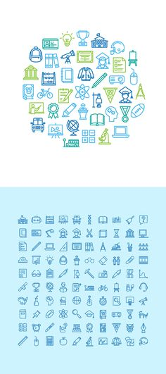 Education icon set - Free on Behance