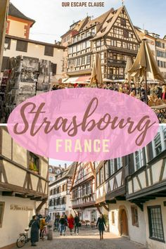 A Splendid One Day in Strasbourg Itinerary – Our Escape Clause One Day in Strasbourg Itinerary: Great food, great wine, adorable architecture, and a mash-up of German & French culture with its own unique twist: Strasbourg was an incredibly charming place! Europe Travel Tips, European Travel, Travel Guides, Travel Destinations, Euro Travel, Overseas Travel, European Vacation, Travel Hacks, Strasbourg