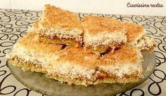 TARTA (cuadraditos) DE COCO CON DULCE DE LECHE - súper fácil!!!!   Caserissimo