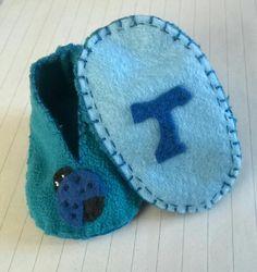Scarpine neonato feltro pannolenci pile