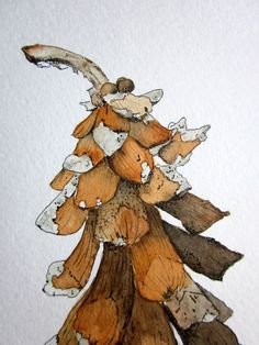 Image result for pen and ink and watercolor botanicals