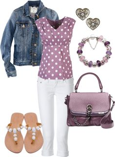 """""""Lavender Outfit"""" by heather767 on Polyvore"""