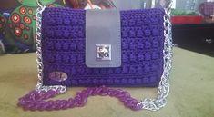Lila crochet bag Handmade Bags, Chanel Boy Bag, Shoulder Bag, Crochet, Handmade Handbags, Shoulder Bags, Ganchillo, Crocheting, Knits