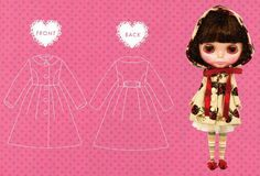 Blythe Lolita No Hood Coat Sewing Pattern PDF,  AliceInCraftyland  Your Ultimate E-Pattern Shop @ etsy