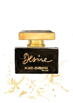 "LINE BOTWIN ""Girly illustrations# #chic #fashion #girly #illustration  Dolce Gabbana The One Desire Fragrance Watercolor by MilkFoam, $30.00"