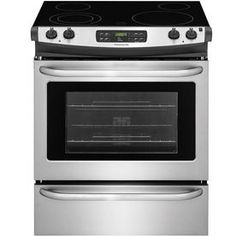 Frigidaire�EasyCare Smooth Surface 4.6-cu ft Self-Cleaning Slide-In Electric Range (Stainless Steel) (Common: 30-in; Actual: 30-in)