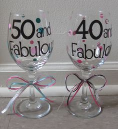 Personalized Birthday Wine Glasses by EllerysDesigns on Etsy ...WILLI