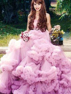 Strapless Mini Tulle Ruffles Prom Formal Dress by JoJo's Dress