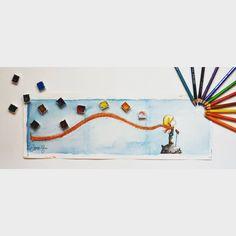 """""""Aha da tamamısı :) #illustration #illüstrasyon #suluboya #watercolor #brushpen #copic #littleprince #kucukprens #küçükprens #child #colors #cocuklar…"""""""