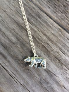 Bear Necklace Charm Necklace  Necklace California by LunaSavita