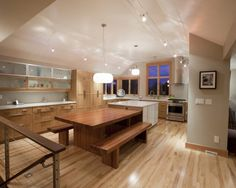 Kitchen Island With Attached Table Design, Pictures, Remodel, Decor and Ideas - page 27