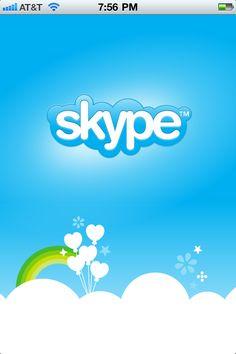 launch screen on skype