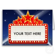 broadway theme signs classic movie theater marquee presentation rh pinterest com Movie Border Clip Art movie theater marquee clipart
