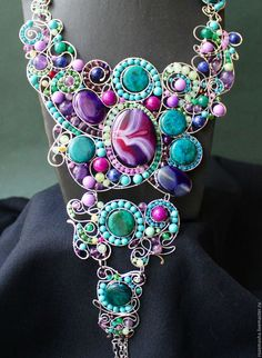Necklaces & Beads handmade. Livemaster - handmade. Buy Necklace Titania (variant in silver metal).Combo, art nouveau