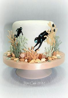 Grooms cake for the rehearsal!!!!! DONE!!!! Scuba diving cake