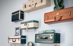 suitcase floating shelving