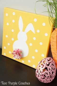 I sort of feel like Easter has snuck up on me this year! Maybe it's because we're going to be out of town before the holiday gets here, but I haven't even done so much as get a single decorative bunny out of my Easter bin. But I did manage to paint this adorable Easter …