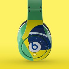 Limited edition, Brazil inspired, Beats by Dre Studio headphones. Only 100 available. Perfect for Carnival!