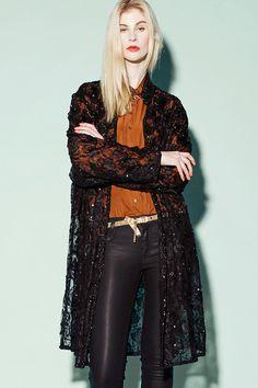 Shop Vintage 80s Black Lace Beaded Kimono http://thriftedandmodern.com/vintage-80s-beaded-lace-jacket