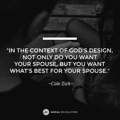 When you know how to walk in purity, you know how to manage your desires so you can put the welfare of your spouse first before your own feelings. It's healthy to both have a desire for your spouse, but also be able to lay that down for a night or a time to keep their best in mind.