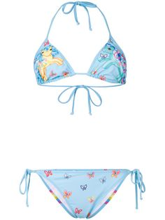 moschino my little pony one piece swimsuit in light blue a pink my