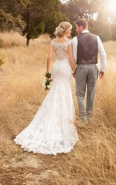 Browse our stunning selection of Essense of Australia wedding dresses available at The Wedding HQ. Buy your dream Essense of Australia wedding dress here. 2017 Bridal, Bridal Gowns, 2017 Wedding, Summer Wedding, Essense Of Australia Wedding Dresses, Boho Vintage, Backless Wedding, Lace Wedding, Dream Wedding