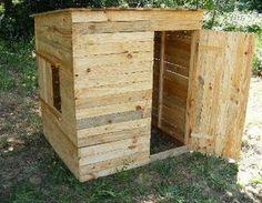 Tutoriel : une cabane en planches de palette. Pour les poules ?..