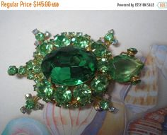 ON SALE DeLizza and Elster aka Juliana Green Turtle by Cleoras