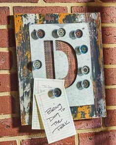 Decoupage -  DIY Personalized Magnetic Board for Man Cave